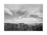"Canyon Edge Low Horizon Clouded Sky ""Grand Canyon National Park"" Arizona 1933-1942"