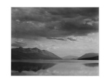 "Looking Across Lake To Mountains And Clouds ""Evening McDonald Lake Glacier NP"" Montana 1933-1942"