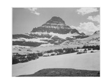 Looking Across Barren Land To Mountains From Logan Pass Glacier National Park Montana 1933-1942