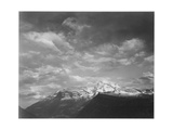"Dark Foreground And Clouds Mountains Highlighted ""Heaven's Peak"" Glacier NP Montana 1933-1942"