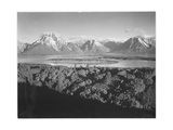 "Mt Moran And Jackson Lake From Signal Hill Grand ""Teton NP"" Wyoming 1933-1942"