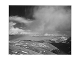 "Mt Tops Low Horizon Low Hanging Clouds ""In Rocky Mountain National Park"" Colorado 1933-1942"