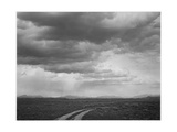"Roadway Low Horizon Mountains Clouded Sky ""Near (Grand) Teton National Park"" 1933-1942"
