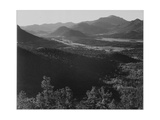 "Valley Surrounded By Mountains ""In Rocky Mountain National Park ""Colorado 1933-1942"