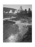 "Stream Winding Back Toward Geyser ""Central Geyser Basin Yellowstone NP"" Wyoming 1933-1942"