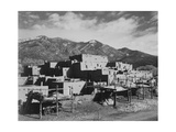 "Full View Of City Mountains In Bkgd ""Taos Pueblo National Historic Landmark New Mexico 1941"""