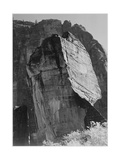 "Rock Formation From Below ""In Zion National Park"" Utah  1933-1942"