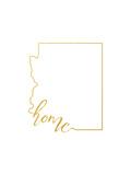 Arizona Home Reproduction d'art par Paperfinch
