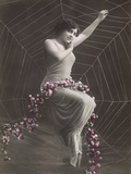 Woman In Spider Web Reproduction d'art par Found Image Press
