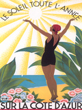 Travel Poster For Cote D Azur