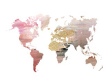 Pink World Map