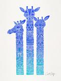 Blue Ombre Giraffes