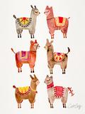 Alpacas Reproduction d'art par Cat Coquillette