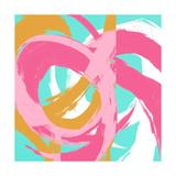 Pink Circular Strokes II Giclée premium par Megan Morris