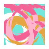 Pink Circular Strokes I Giclée premium par Megan Morris