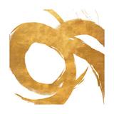 Gold Circular Strokes II Giclée premium par Megan Morris