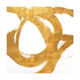 Gold Circular Strokes I Giclée premium par Megan Morris