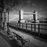 London Thames Riverside & Tower Bridge Reproduction d'art par Melanie Viola