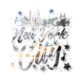 New York City Typography Geometric Mix No 9 Reproduction d'art par Melanie Viola