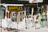 Skis On Walls/Snow Banks Corbet's Cabin Rendezvous Bowl Tramway  Jackson Hole Mt  Teton Village  WY
