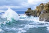 Waves Crashing Along Cape Kiwanda Pacific City  OR