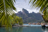 Mount Otemanu As Seen Through Palm Fronds At The Four Seasons Bora Bora French Polynesia