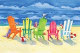 Brighton Chairs Reproduction d'art par Paul Brent