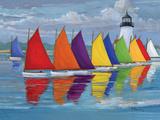 Flotte couleur arc-en-ciel Reproduction d'art par Paul Brent