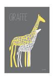 Yellow Zoo V Reproduction d'art par Kris Ruff