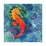 Seahorse Batik Sq