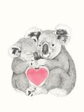 Koala Love Shugs Reproduction d'art par Laura Grave