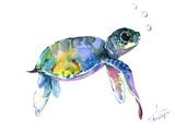 Baby Sea Turtles 2 Reproduction d'art par Suren Nersisyan
