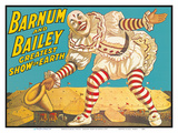 Barnum & Bailey Circus - Greatest Show on Earth - Clown Standing over Tents