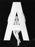 Woman with Huge Letter A