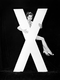 Woman with Huge Letter X