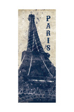 Eiffel Tower in Indigo