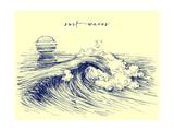 Surf Waves Sea Waves Graphic Ocean Wave Sketch