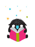 Monster Reading Book Cartoon for Kids Happy Funny Little Monster Education and Reading  Picture Fo