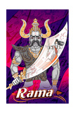 Lord Rama with Demon Ravana in Happy Dussehra Navratri Celebration India Holiday Background Vector