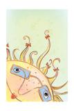 Sunny Childhood Vector Illustration of a Sunny Head Little Girl Head
