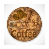Coffee Lid Isolated on White Background