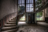 Old Stairway in Abandoned Building