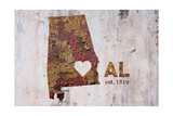 AL Rusty Cementwall Heart
