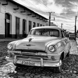 Cuba Fuerte Collection SQ BW - Plymouth Classic Car II