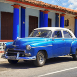 Cuba Fuerte Collection SQ - Blue Vintage Car