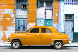 Cuba Fuerte Collection - Orange Classic American Car