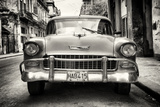 Cuba Fuerte Collection B&W - Old Chevrolet in Havana