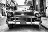 Cuba Fuerte Collection B&W - Old Chevrolet in Havana III