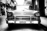 Cuba Fuerte Collection B&W - Old Chevrolet in Havana II
