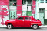 Cuba Fuerte Collection - Red Classic American Car